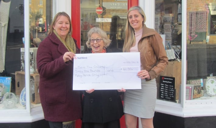 Save the Children in Sherborne Receives Cheque from Candlelight Care