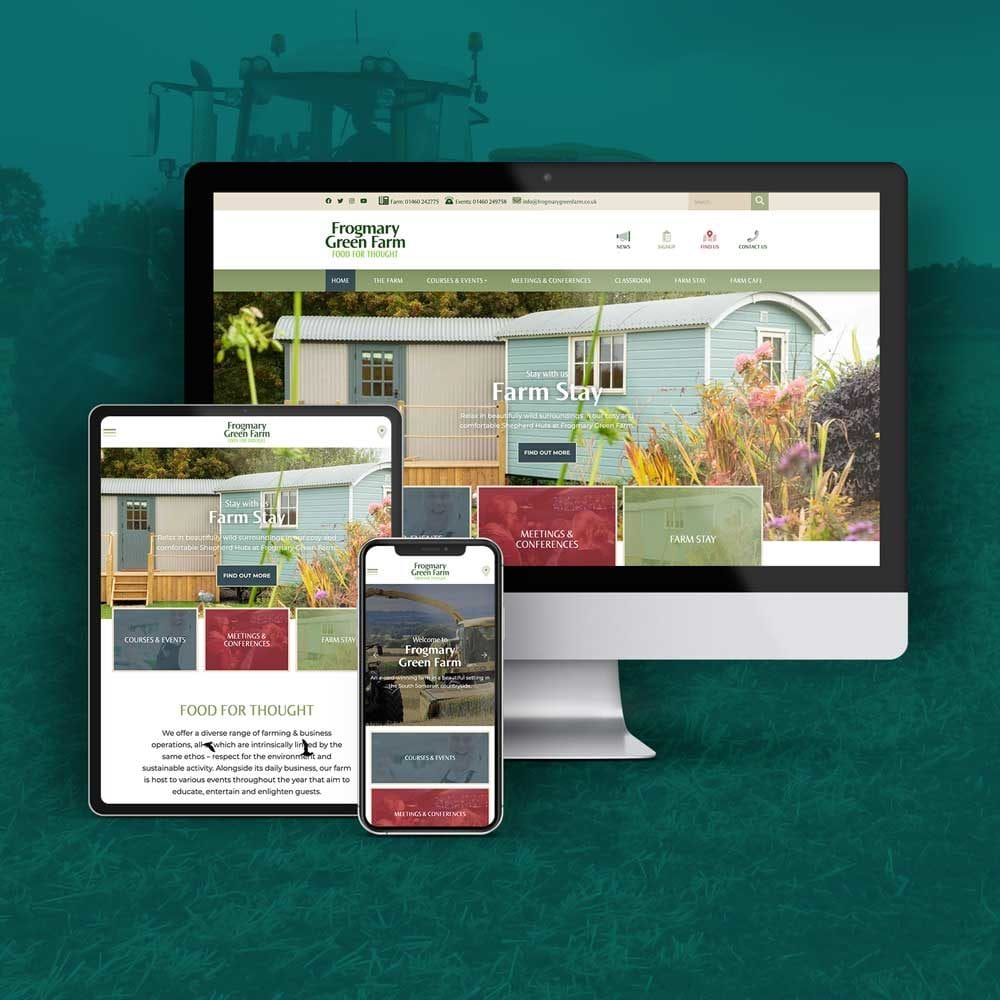 Responsive website for Frogmary Green Farm