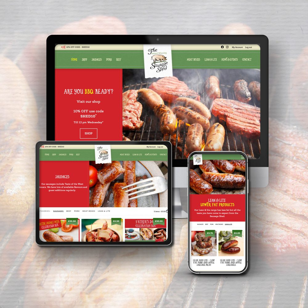 Sausage Shed New Website by Stable Design