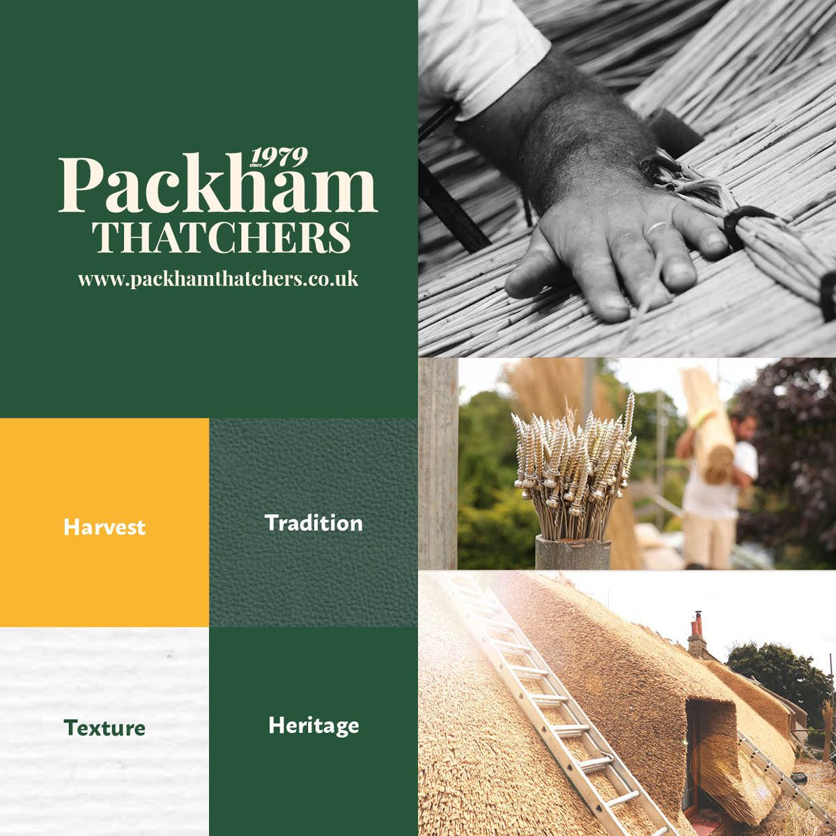 Packham Thatchers Brand Colours and Textures