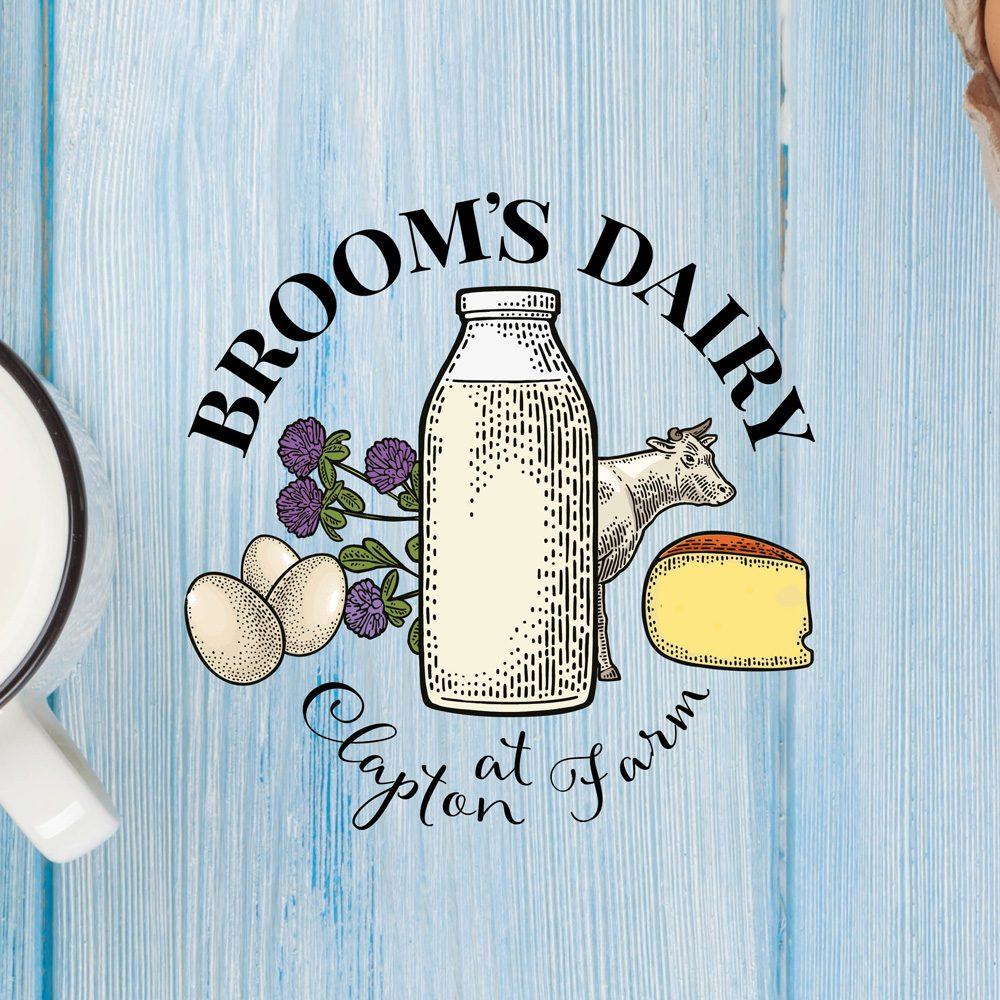 Broom's Dairy Logo by Stable Design