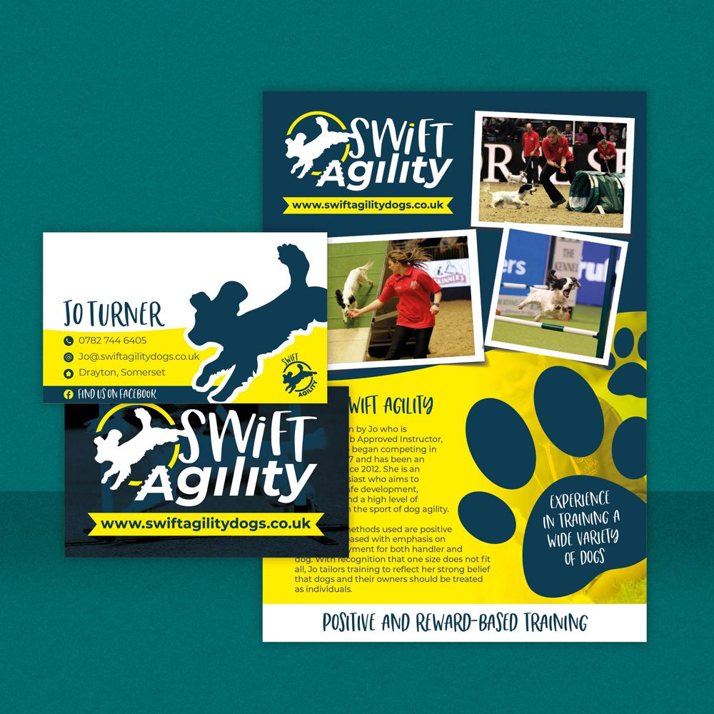 Swift Agility Dogs Business Cards & Fliers