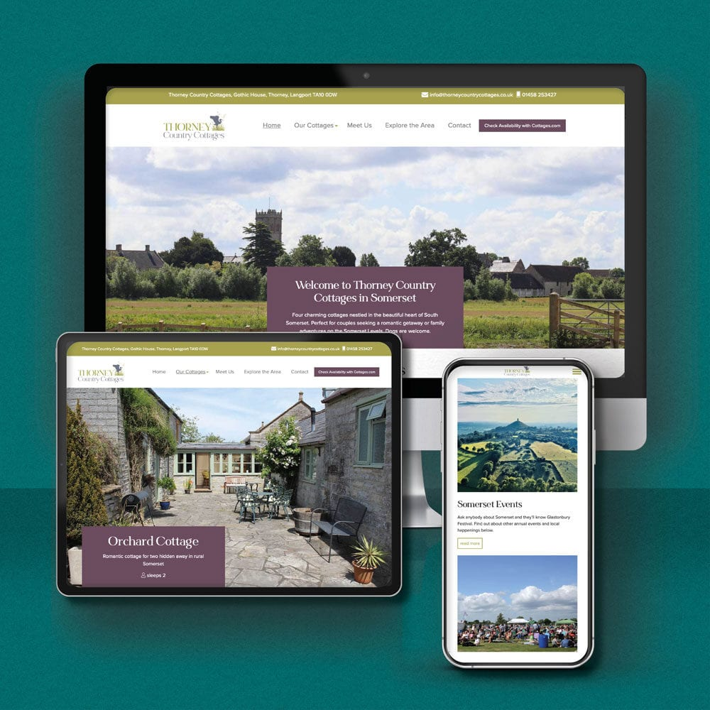 Thorney Country Cottages Website Design