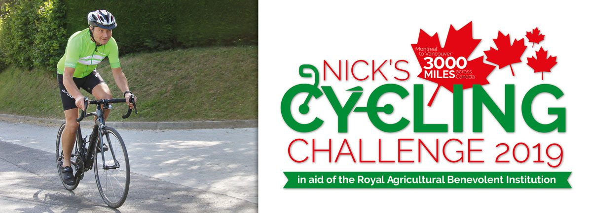Nick's Cycling Challenge in aid of R.A.B.I.
