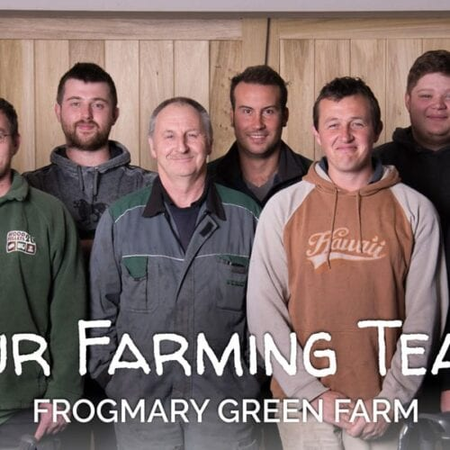 Nick Bragg and the Farming Team at Frogmary Green Farm