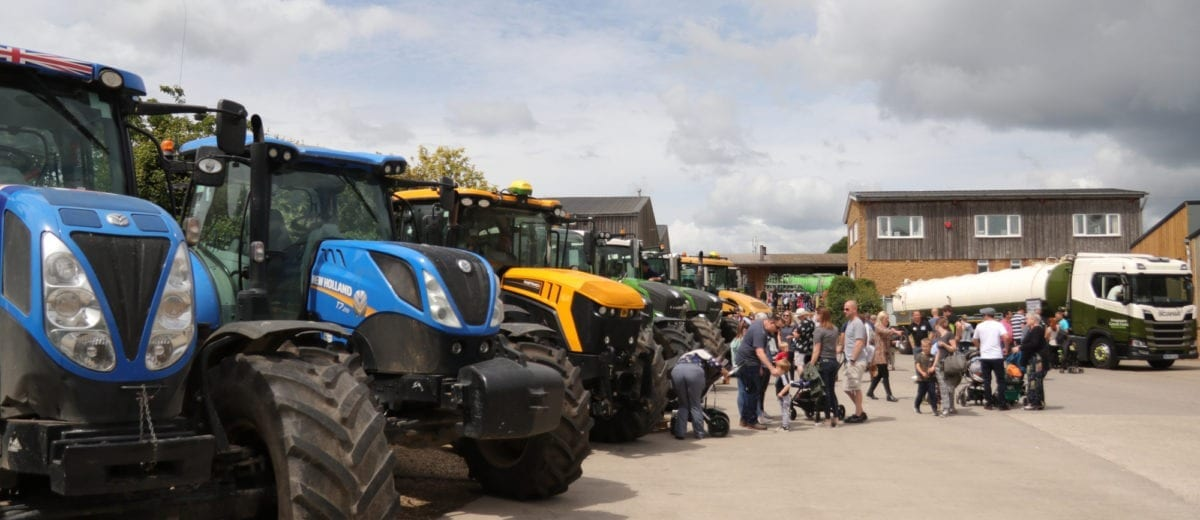 Static Tractor Display at Open Farm Sunday