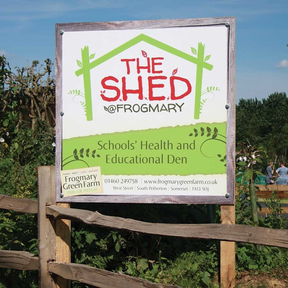 Sign outside the S.H.E.D classroom