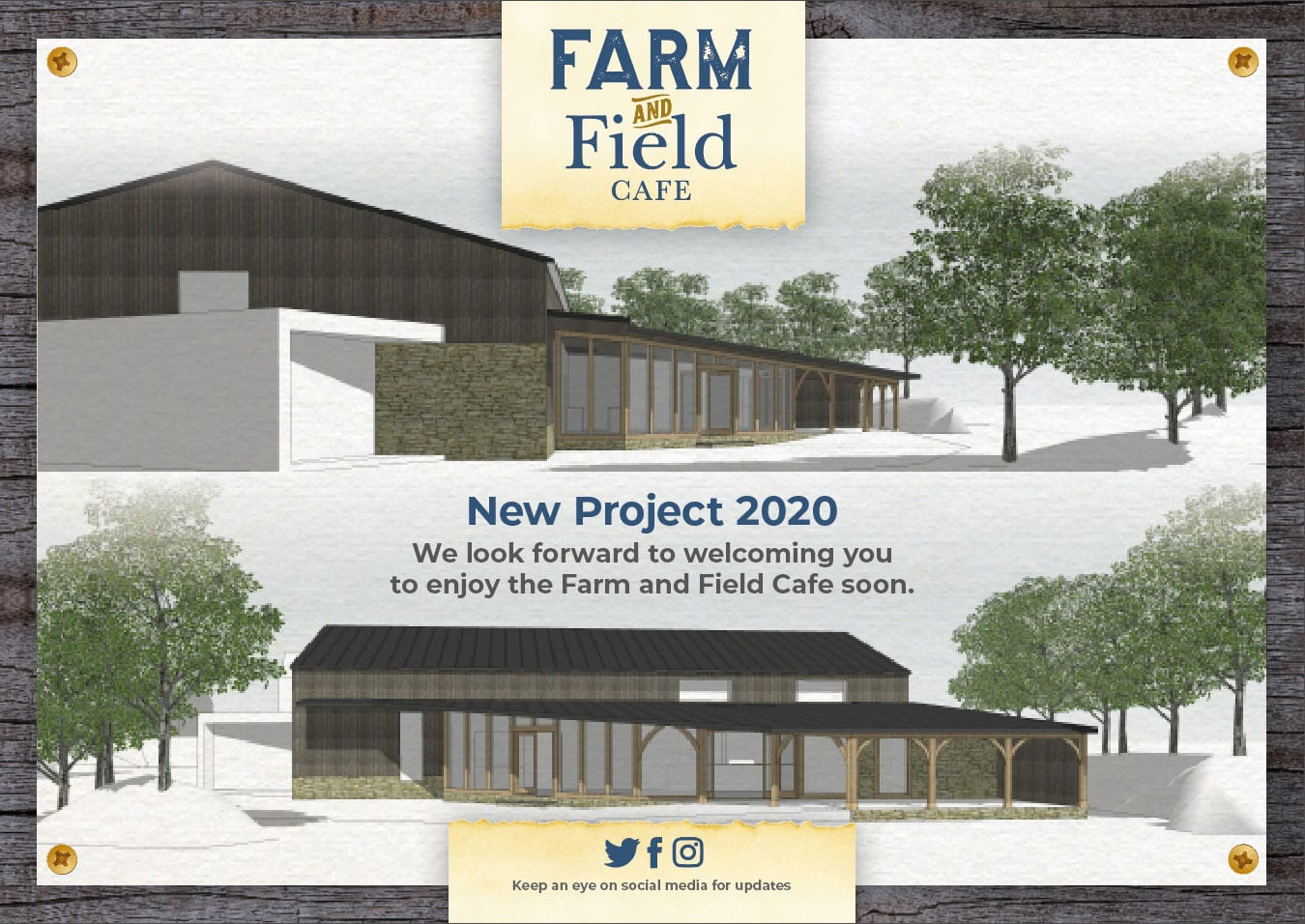 Building plans for Farm and Field Cafe, near Ilminster