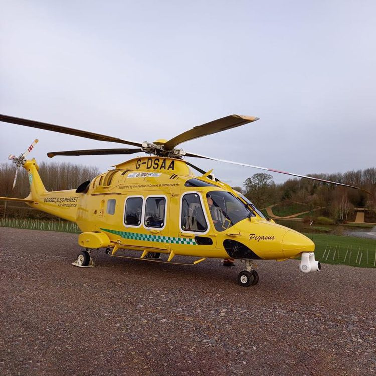 Dorset & Somerset Air Ambulance at Frogmary Green Farm