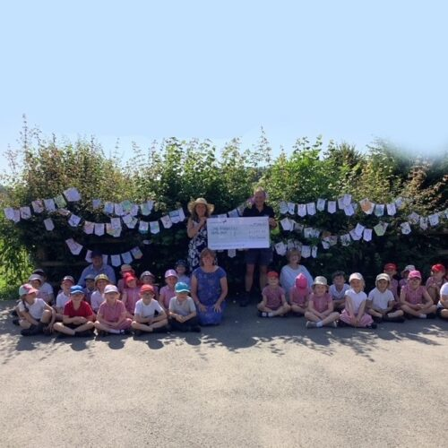 Nick's 7 Day Challenge cheque presentation to South Petherton CofE Infant School