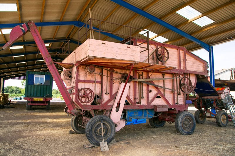 1850s Clayton & Shuttleworth threshing machine.1850s Clayton & Shuttleworth threshing machine.1850s Clayton & Shuttleworth threshing machine.