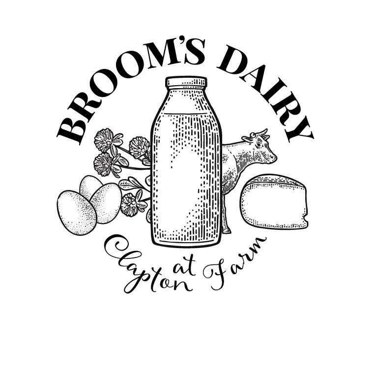 Brooms Dairy Logo - Milk delivery service   Ilminster & Chard