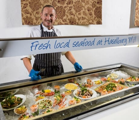Fresh local seafood at Haselbury Mill