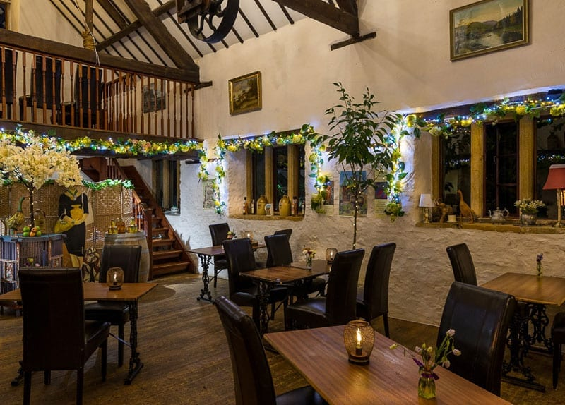 Great local food in the Millers Bar in Haselbury Mill venue.