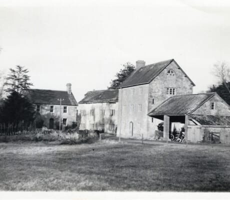 Historical mill building at Haselbury