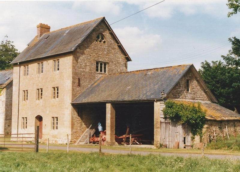 Old mill building at haselbury