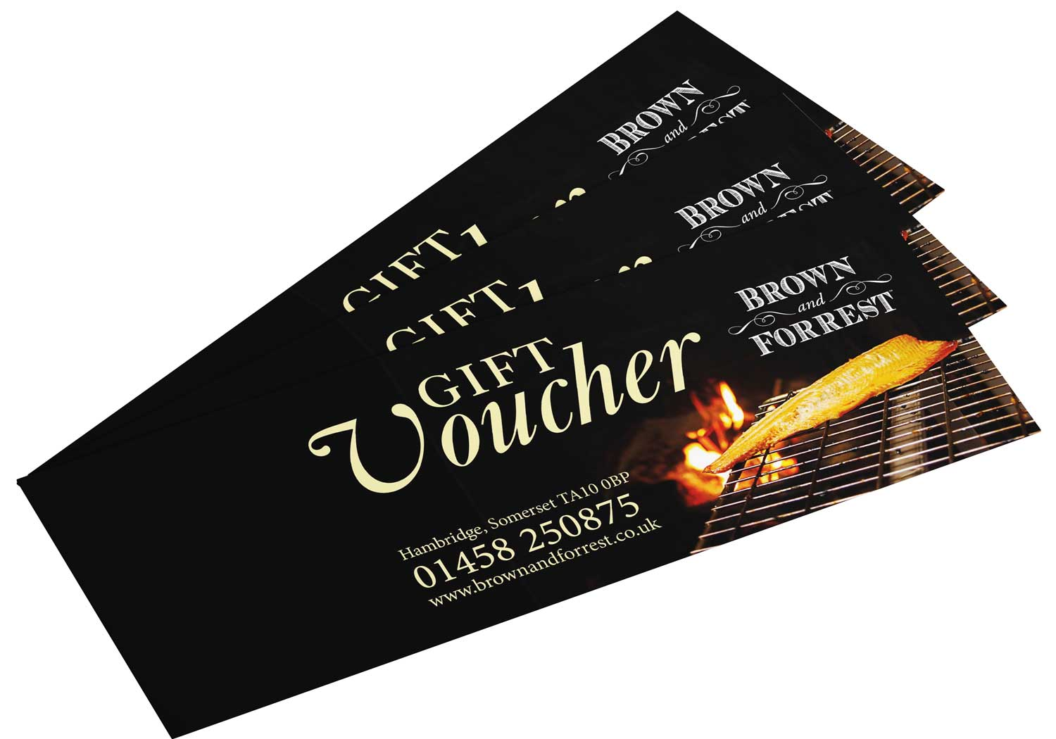 Brown and Forrest Gift Vouchers for smoked meats, fish & cheese
