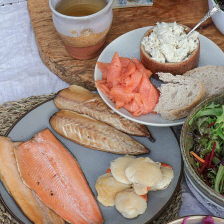Brown & Forrest's Fish Course Box - smoked salmon, smoked trout, scallops & pate