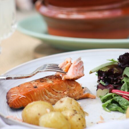 Brown & Forrest's Hot smoked salmon steaks