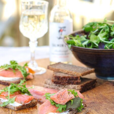 Brown & Forrest's Sliced Smoked Salmon on toast