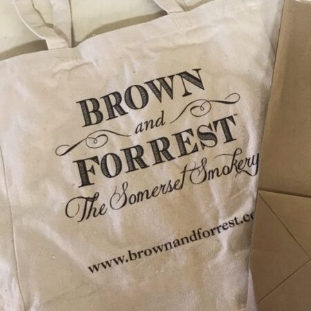Brown & Forrest the Somerset Smokery canvas bags