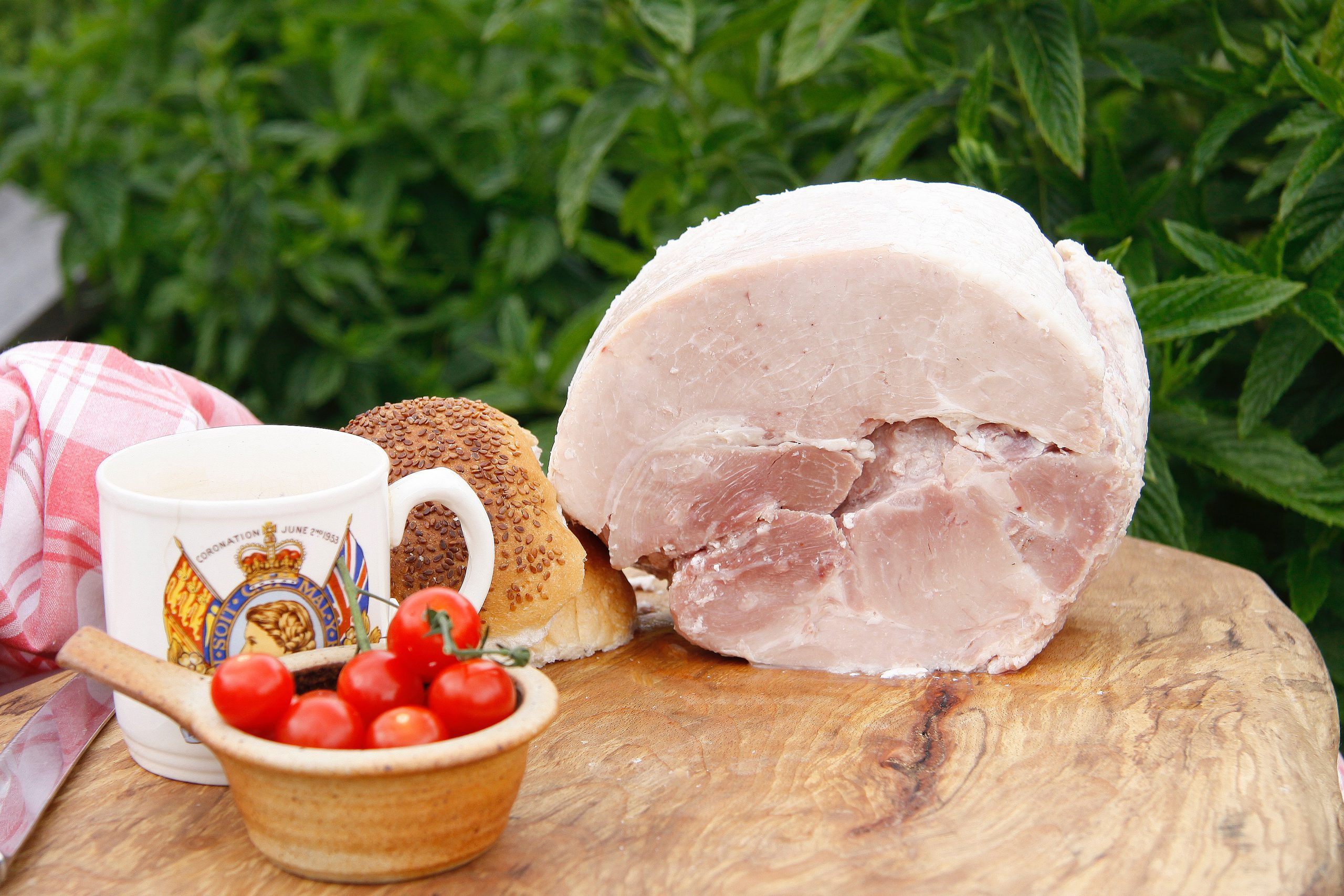 Traditional ham from the Somerset Smokery