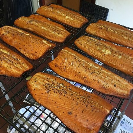 Brown & Forrest's whole side of smoked salmon