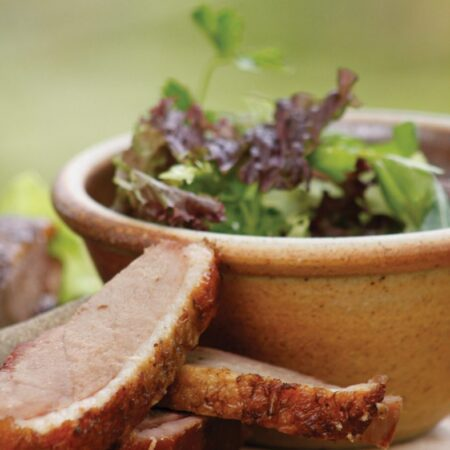 Sliced smoked duck breast by Brown & Forrest Smokery