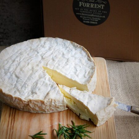 Whole smoked Brie from the Somerset Smokery