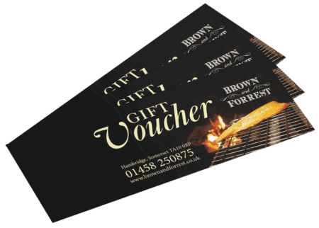 Brown and Forrest Gift Vouchers