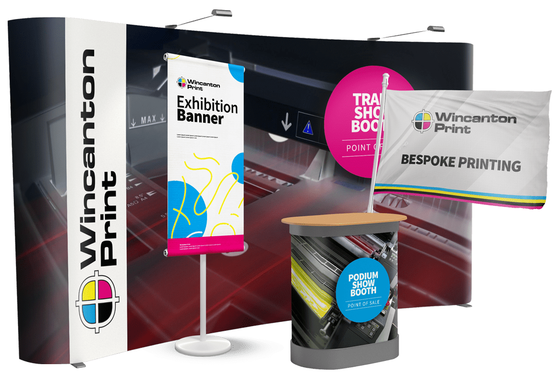 POS Exhibition stand printing for trade shows, conferences or careers fairs at Wincanton Print