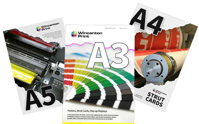 A5, A3, A4 strut cards and posters printed quickly in Somerset