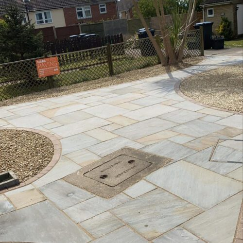 Marc Purdy Patio Installation with gravel in Yeovil