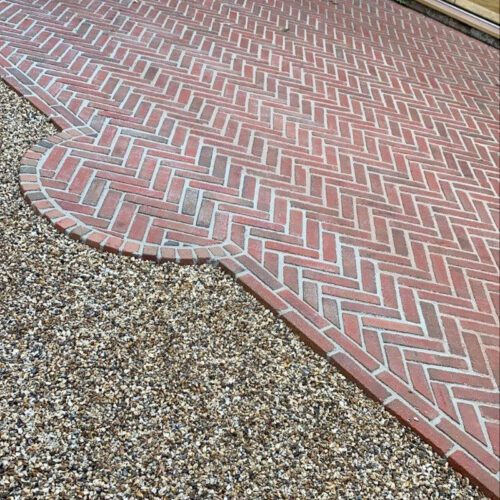 Classic Interlaced Clay Block Paving By Marc Purdy Paving Somerset