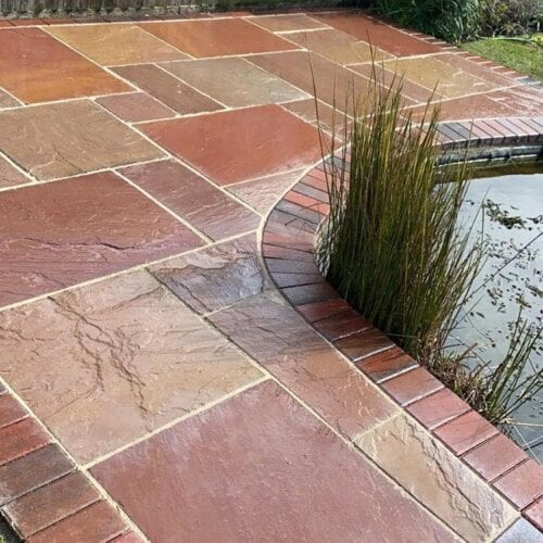 Red Indian sandstone for patios and pathways | Marc Purdy paving