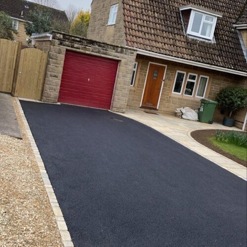 Tarmac Driveway With Indian Sett Edging Stones