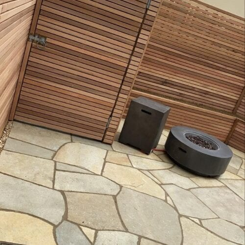 Paving and fencing